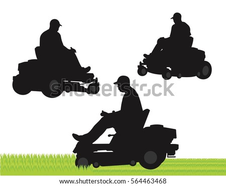 Riding Lawn Mower Silhouette | www.pixshark.com - Images ...