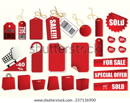 commercial Price tag for online shop, print, sales, special item, discount or any other purpose  - stock vector