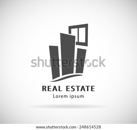 Commercial Property Real Estate logo design template icon - stock vector