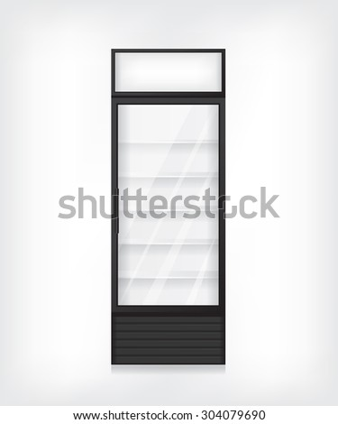 Commercial refrigerator illustration - stock vector