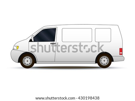 Commercial van icon