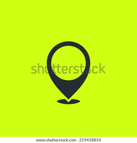 Common positioning pictogram. Flat location icon. For maps, schemes, applications and infographics. - stock vector