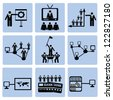 Communicate,Business,Human resource,icon set,Vector - stock vector
