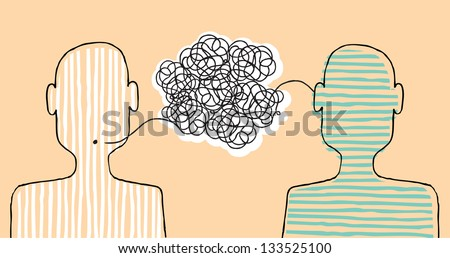 Communicating a message - stock vector