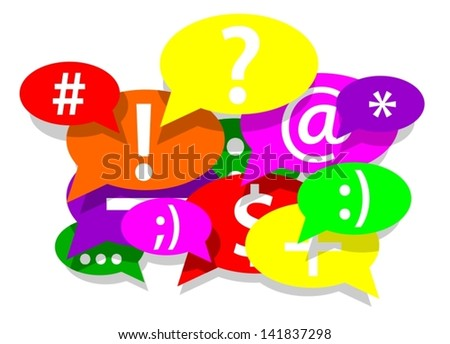 Communication and social network - stock vector