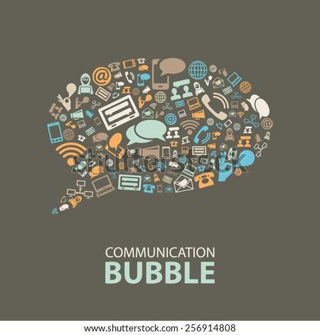 communication bubble - stock vector