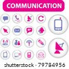 communication buttons, icons, signs, vector illustrations - stock vector