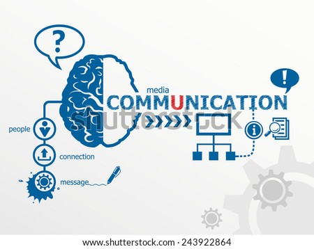 Communication concept and social media art. Worldwide communication - stock vector