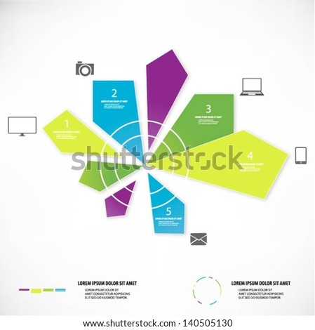 Communication concept background - stock vector