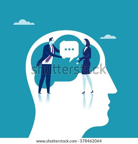 Communication. Concept business illustration - stock vector