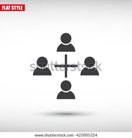 communication concept. connection. icon. Vector - stock vector