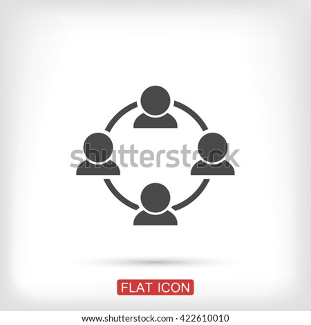 communication concept. connection. icon. Vector Eps 10 - stock vector