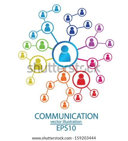 communication concept. connection. vector Illustration. - stock vector