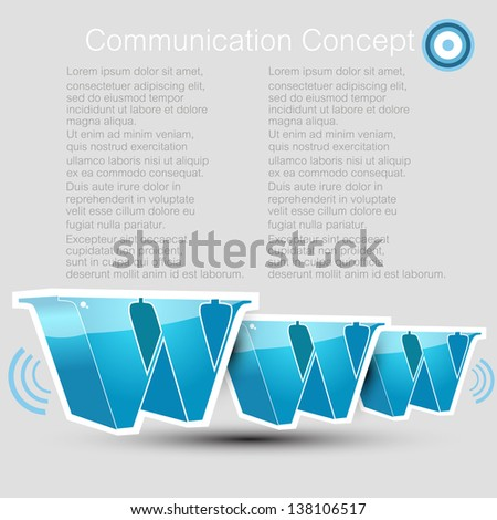 Communication concept with a www