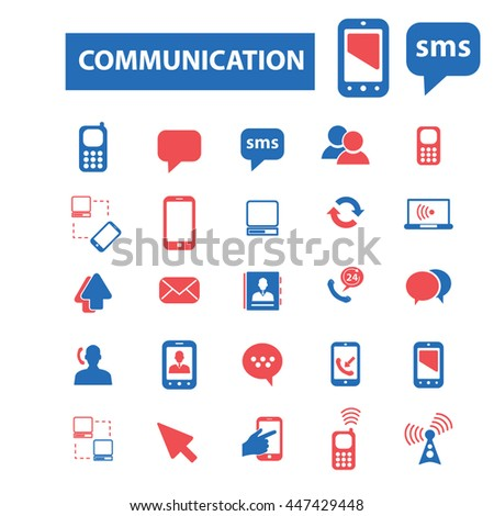 communication, connection, link, internet, online, phone, computer network, hosting, system administration, router, laptop, tower, antenna, equipment, lan, broadcasting, technology icons, signs vector - stock vector