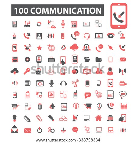 communication, connection, network  icons, signs vector concept set for infographics, mobile, website, application  - stock vector