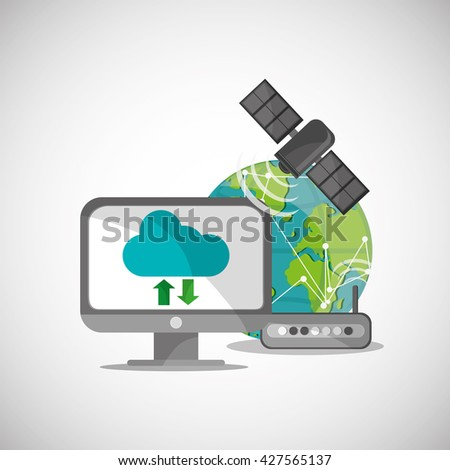 Communication design. Internet concept. Isolated illustration