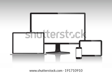 Communication devices. - stock vector