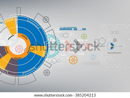 communication digital background, abstract technology vector illustration