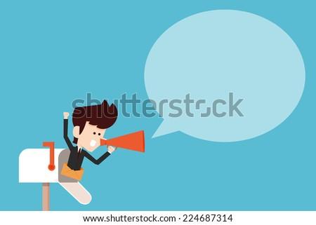 Communication flat design - stock vector