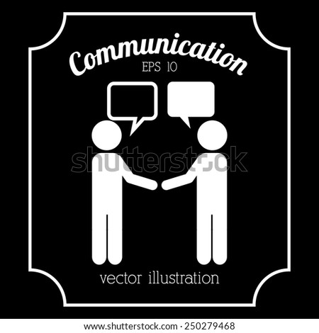 communication icon design, vector illustration eps10 graphic  - stock vector