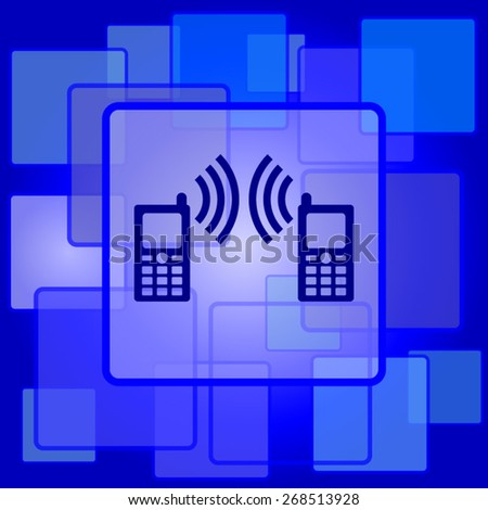 Communication icon. Internet button on abstract background.  - stock vector