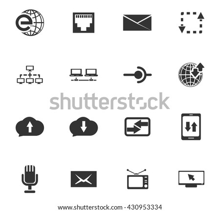 Communication icon set for web sites and user interface