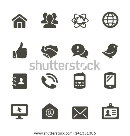 Communication icon set. Rounded Set 2.
