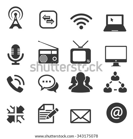 communication icon, vector - stock vector