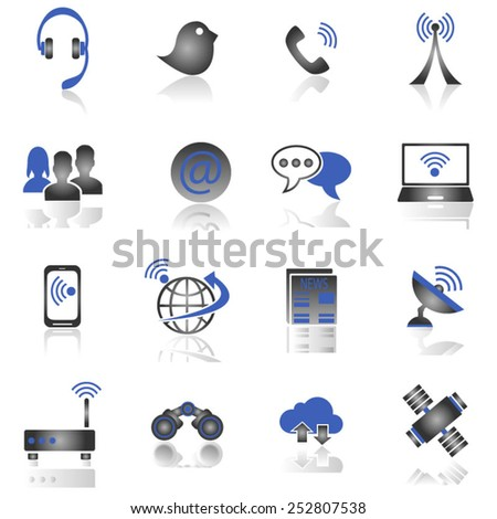 Communication icons - stock vector