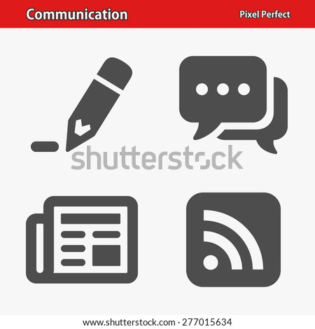 Communication Icons. Professional, pixel perfect icons optimized for both large and small resolutions. EPS 8 format. Designed at 32 x 32 pixels. - stock vector