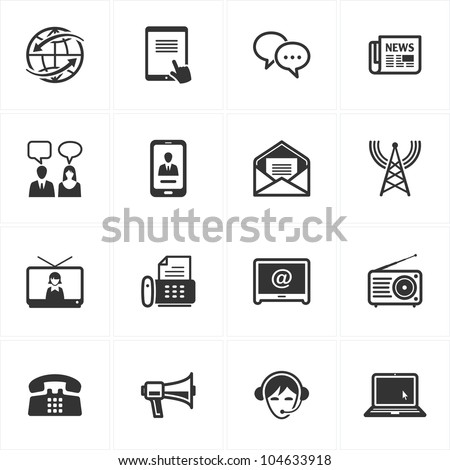 Communication Icons - Set 2 - stock vector
