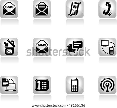 Communication icons set. vector design