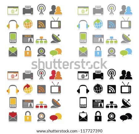 Communication icons set.vector illustration - stock vector