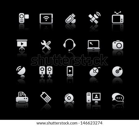 Communication Icons // Silver Series - stock vector