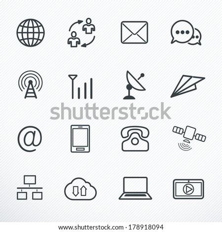 Communication Icons, Vector illustration - stock vector