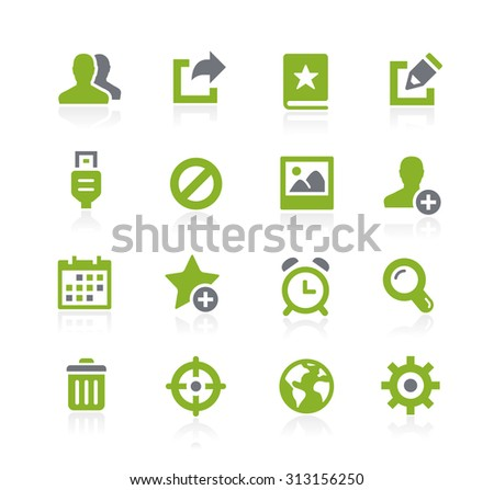 Communication Interface Icons // Natura Series - stock vector