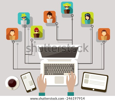 communication networks - stock vector