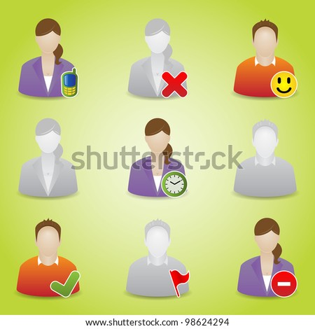 Communication People Icons. Vector - stock vector