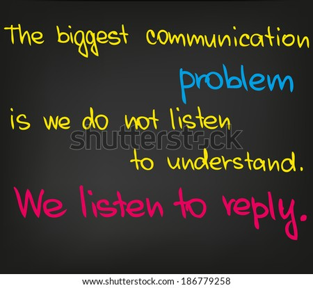 Communication problem - stock vector