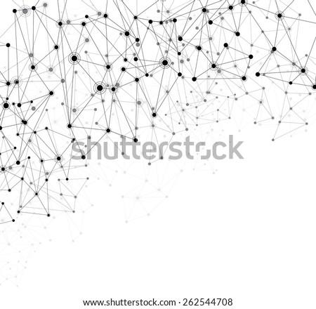Communication social mesh. Network polygonal background. Vector illustration.  - stock vector