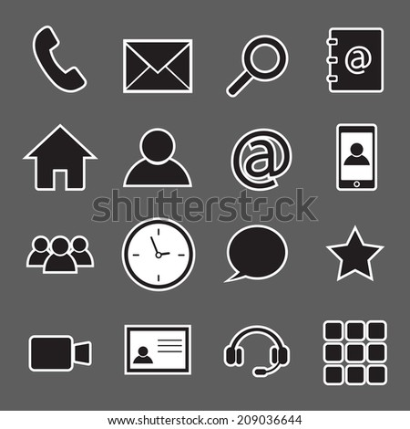 communication sticker icons