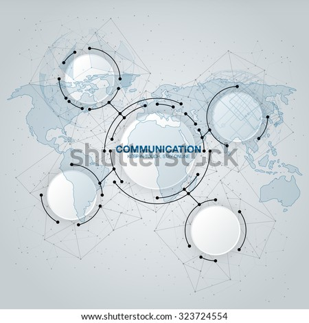 Communication technology with integrated circles with Blank space for your design. Vector illustration global social media concept. abstract technology communication concept - stock vector