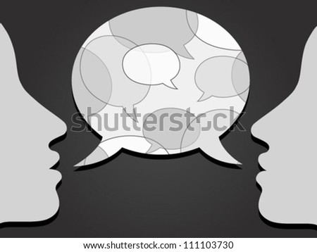 communication with speech bubbles pattern - stock vector