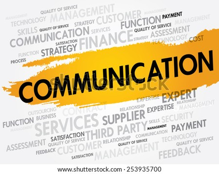 Communication word cloud, business concept - stock vector