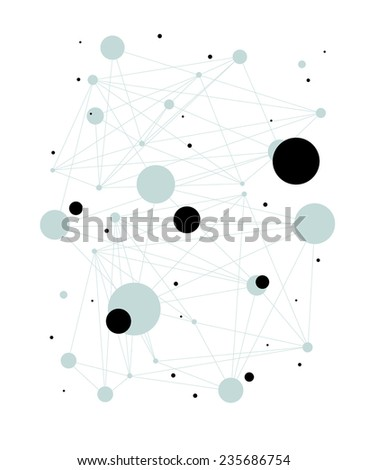 Communications Abstract Background - stock vector