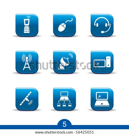 communications icons no.5..smooth series - stock vector
