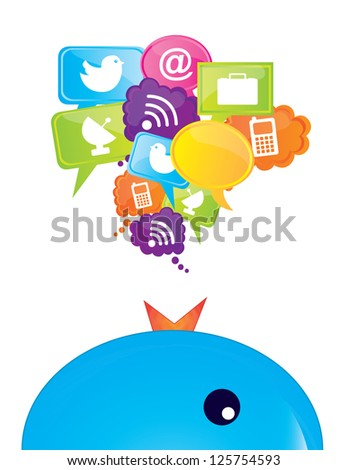 Communications icons over white background vector illustration