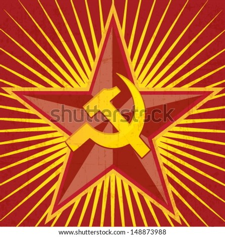 COMMUNISM retro poster - USSR Soviet Union  - stock vector