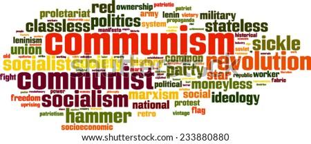 Communism word cloud concept. Vector illustration - stock vector